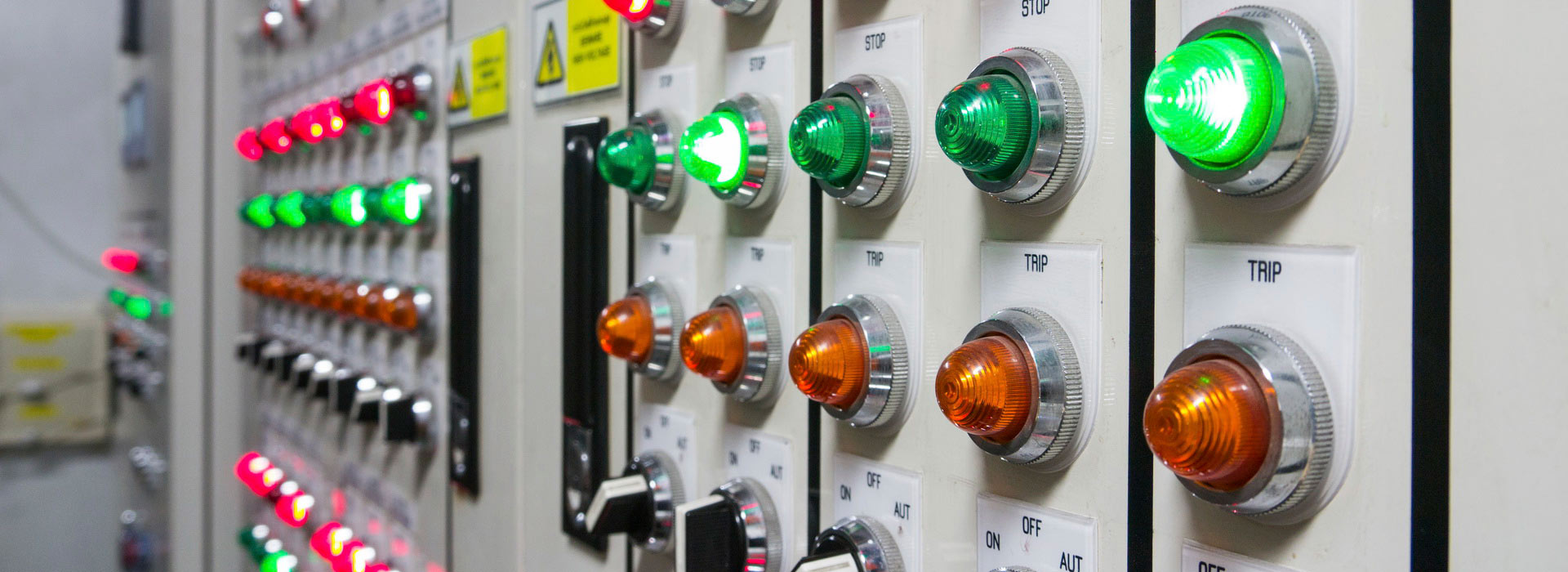 an electrical control panel