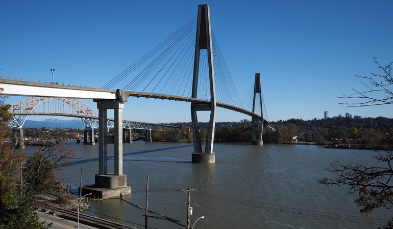 Skytrain Fraser River Crossing North Approach Spans