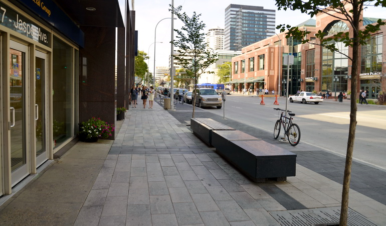 Jasper Avenue New Vision Streetscaping 1