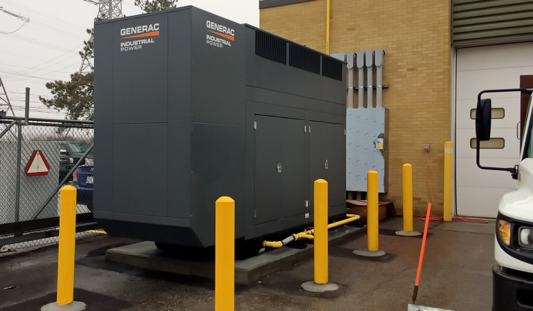 Yard Works Facility Emergency Backup Generator